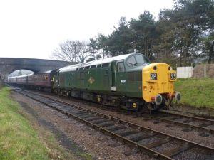 6737 leaving Weybourne with the 11.15 Sheringham-Holt 19/02/11 Photo courtesy Bill Pizer