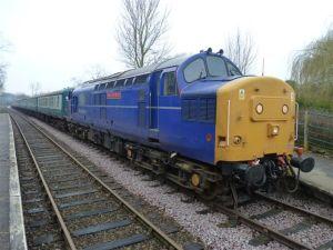 37219 at Thuxton with the 09.30 Dereham-Wymondham Abbey 20/02/11 Photo courtesy Bill Pizer