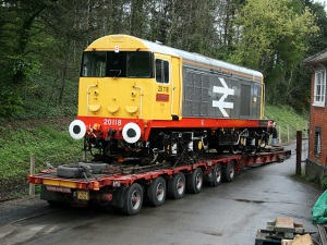 20118 loaded up ready to head off into it's new career with HNRC - Photo Neil Cannon