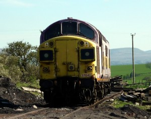 Recent arrival 37042 at Warcop on Sunday 17th April - photo Matt Stoddon