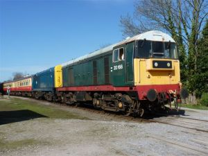 20166 & 20020 depart Leyburn with the 10.35 Redmire-Leeming Bar on Sunday 10th April - Photo Bill Pizer