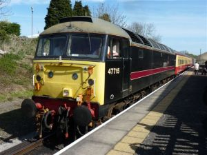 47715 leaves Leyburn with the 13.16 Leeming Bar-Redmire on Sunday 10th April - photo Bill Pizer