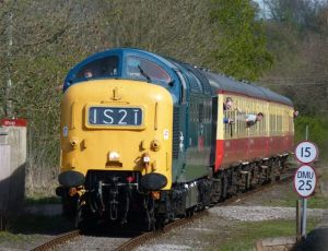 55019 on the approach to Leyburn with the 14.35 Leeming Bar-Redmire on Sunday 10th April - photo Bill Pizer