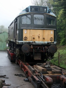 D7541 being prepared for unloading at Buckfastleigh - Photo Neil Cannon