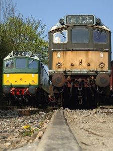 D7612 and D7541 at Buckfastleigh -  a taste of the future 17/04/11 - Photo Phil Seymour