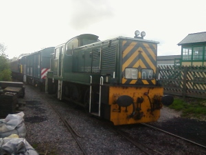 D9516 arrives at Leeming Bar on Monday 11th April - Photo R Williamson