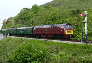 D1062 approaches Corfe with the 12.30 Norden-Swanage 7th May 2011 - Photo Bill Pizer