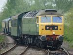 D1916 nears Orton Mere with the 18.08 Peterborough - Wansford on 19th May - photo Bill Pizer